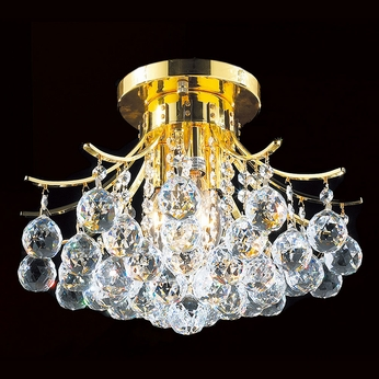 Worldwide W33015G16 Empire Polished Gold Ceiling Light