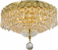 Worldwide W33020G12 Empire Gold 12  Flush Mount Lighting Fixture