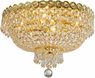 Worldwide W33020G18 Empire Gold 18  Flush Ceiling Light Fixture