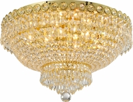 Worldwide W33020G20 Empire Gold 20  Flush Mount Ceiling Light Fixture