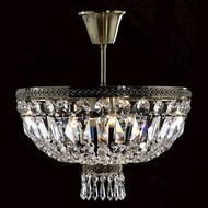 Worldwide W33087B16 Metropolitan Semi Flush Mount 16 Inch Diameter Crystal Ceiling Lighting