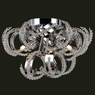 Worldwide W33112C12 Cascade 12 Inch Diameter Small Chrome Finish Ceiling Light Fixture