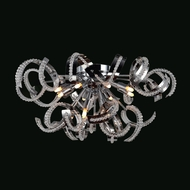 Worldwide W33112C22 Cascade Large Chrome Ceiling Lighting - 22 Inch Diameter