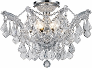 Worldwide W33116C20-CL Mari Theresa Polished Chrome Ceiling Light Fixture