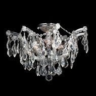 Worldwide W33116C20-CL Bayou Chrome Large Clear Crystal Flush Mount Light Fixture