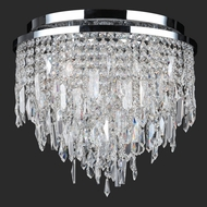Worldwide W33125C16 Tempest 5 Lamp Large 16 Inch Diameter Crystal Ceiling Light