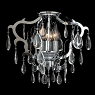 Worldwide W33130C16 Henna Crystal Polished Chrome Finish 16  Wide Ceiling Light Fixture