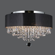 Worldwide W33137C16 Gatsby Large 16 Inch Diameter Crystal Ceiling Light Fixture