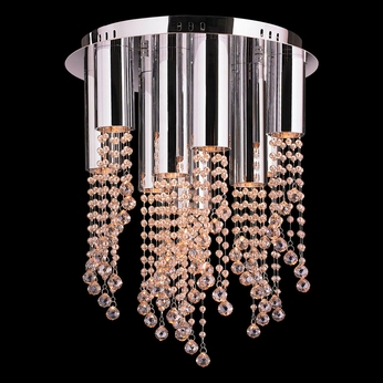 Worldwide W33138C15-GT Metropolis Polished Chrome Halogen Ceiling Light Fixture