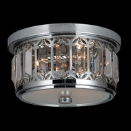 Worldwide W33139C10 Parlour Flush Mount 10 Inch Diameter Ceiling Lighting - Chrome