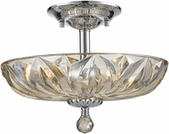 Worldwide W33142C16-GT Mansfield Polished Chrome Flush Mount Lighting Fixture