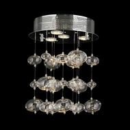 Worldwide W33153C12 Effervescence Small 15 Inch Tall Chrome Finish Modern Ceiling Light