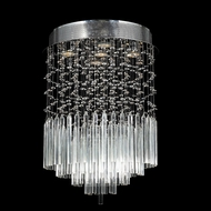 Worldwide W33260C16-CL Torrent Large Clear Crystal Round Ceiling Lighting