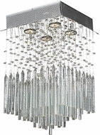 Worldwide W33261C12-CL Torrent Polished Chrome Halogen Flush Ceiling Light Fixture