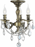 Worldwide W33302BP13-CL Windsor Antique Bronze Flush Lighting