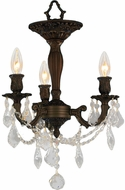 Worldwide W33302F13-CL Windsor Dark Bronze Flush Mount Lighting