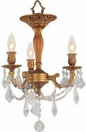 Worldwide W33302FG13-CL Windsor French Gold Overhead Lighting