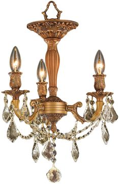 Worldwide W33302FG13-GT Windsor French Gold Overhead Lighting Fixture