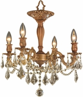 Worldwide W33303FG17-GT Windsor French Gold Ceiling Light Fixture