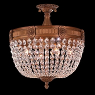 Worldwide W33353FG16-CL Winchester French Polished Gold Finish 16  Wide Home Ceiling Lighting