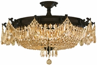 Worldwide W33354F30-GT Winchester Dark Bronze Flush Mount Lighting