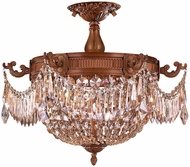 Worldwide W33354FG20-GT Winchester French Gold 20  Flush Mount Lighting Fixture