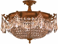 Worldwide W33354FG24-GT Winchester French Gold 24  Flush Ceiling Light Fixture