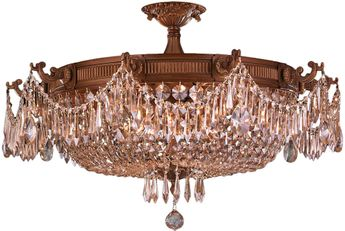 Worldwide W33354FG30-GT Winchester French Gold 30  Home Ceiling Lighting