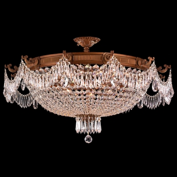 Worldwide W33354FG36-CL Winchester French Polished Gold Finish 36  Wide Ceiling Lighting Fixture