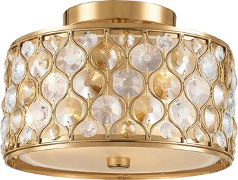 Worldwide W33412MG12-CM Paris Matte Gold Overhead Lighting