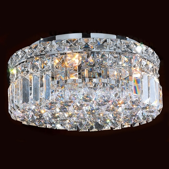 Worldwide W33505C12 Cascade Polished Chrome 12  Flush Mount Ceiling Light Fixture