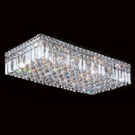 Worldwide W33530C24 Cascade Polished Chrome 24  Flush Mount Light Fixture