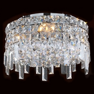Worldwide W33605C12 Cascade Polished Chrome 12  Flush Mount Lighting Fixture