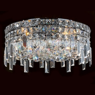 Worldwide W33607C16 Cascade Polished Chrome 16  Flush Mount Ceiling Light Fixture