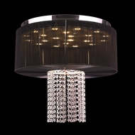 Worldwide W33954C20-BK Alice Polished Chrome Finish 18  Tall LED Flush Mount Lighting