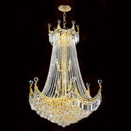 Worldwide W83026G30 Empire Polished Gold Clear 30  Hanging Light Fixture