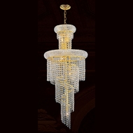 Worldwide W83029G16 Empire Polished Gold Clear Entryway Light Fixture