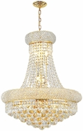 Worldwide W83030G20 Empire Polished Gold Foyer Lighting Fixture
