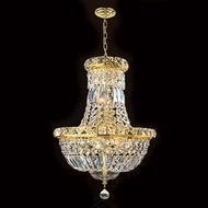 Worldwide W83032G12 Empire Polished Gold Clear Ceiling Light Pendant