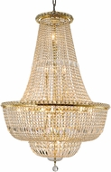 Worldwide W83032G32 Empire Polished Gold 32  Foyer Lighting Fixture