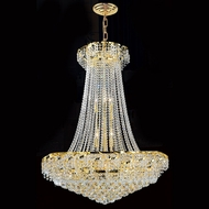 Worldwide W83034G30 Empire Polished Gold Clear 30  Hanging Lamp