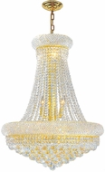 Worldwide W83035G24 Empire Polished Gold Foyer Lighting Fixture
