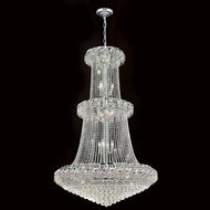 Worldwide W83036C42 Empire Polished Chrome Clear 42  Foyer Light Fixture