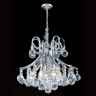 Worldwide W83039C16 Empire Polished Chrome Clear Mini Hanging Chandelier