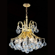 Worldwide W83039G16 Empire Polished Gold Clear Mini Chandelier Light