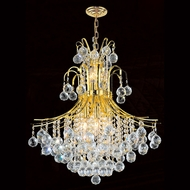 Worldwide W83041G22 Empire Polished Gold Clear Mini Chandelier Light