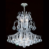 Worldwide W83043C19 Empire Polished Chrome Clear Mini Ceiling Chandelier