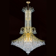 Worldwide W83051G35 Empire Polished Gold Clear Ceiling Light Pendant
