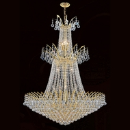 Worldwide W83052G32 Empire Polished Gold Clear Drop Ceiling Light Fixture