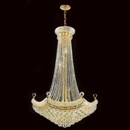 Worldwide W83074G30 Empire 30 Inch Diameter Gold Finish Crystal Large Chandelier Lamp